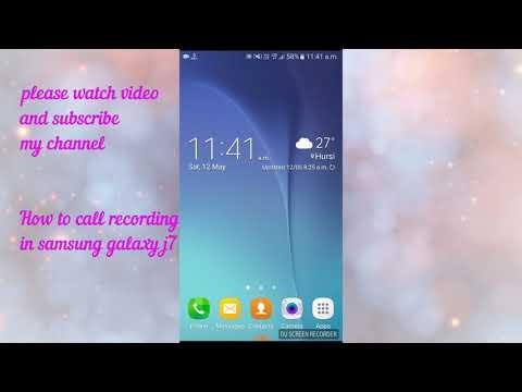 Auto Call Recording In Samsung Galaxy J7