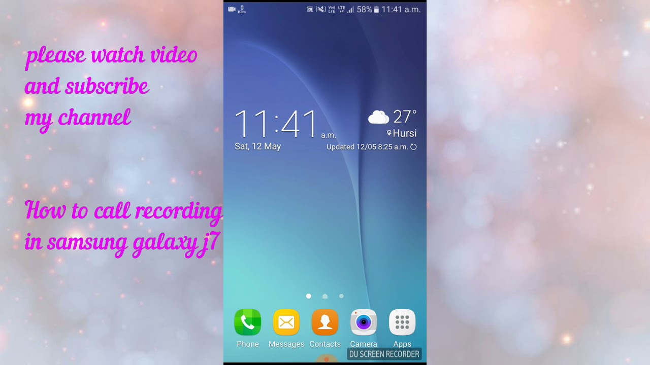 Auto call recording in samsung galaxy j7