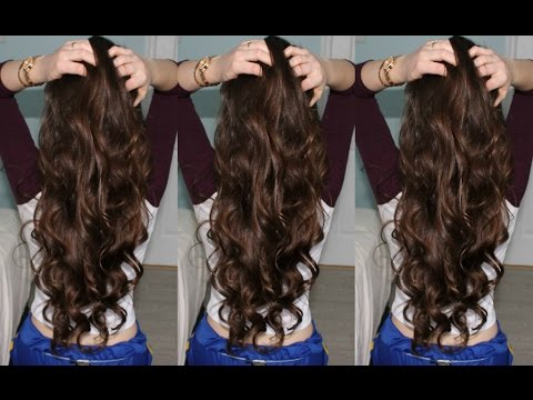 Loose Voluminous Tumblr Curls - YouTube