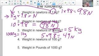 PT1M N kg lbs conversions