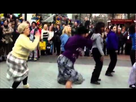 Old ladies hijack street Dance Birmingham New Street