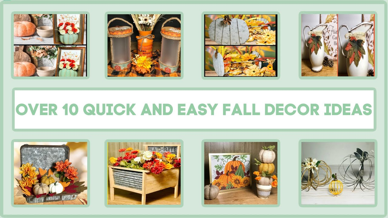 Over 10 Fall Dollar Tree Decor Craft Ideas 2020 | Farmhouse, Rustic, Modern & More