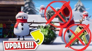 *NEW* SNOWMAN (Bush v2) + GRAPPLER / QUAD LAUNCHER VAULTED!! Fortnite 7.20 Content Patch notes!