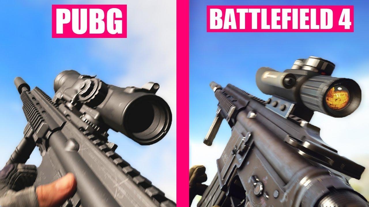 PlayerUnknown's Battlegrounds vs Battlefield 4 Weapons Comparison thumbnail