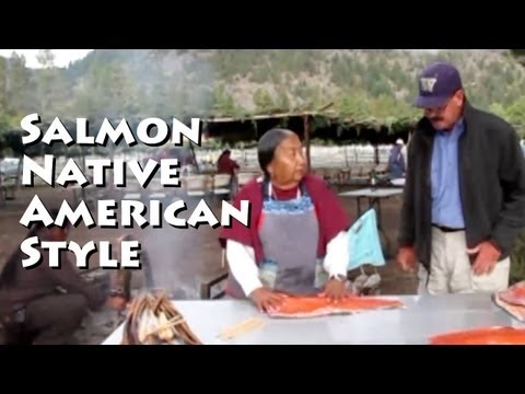 Native American Salmon Cooking