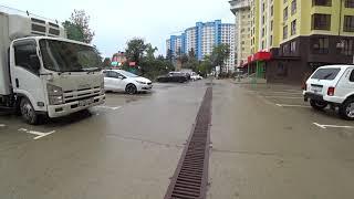 Наводнение реки Дагомыс - не потоп, погода после сильного дождя в Большом Сочи 2018, ливень сегодня