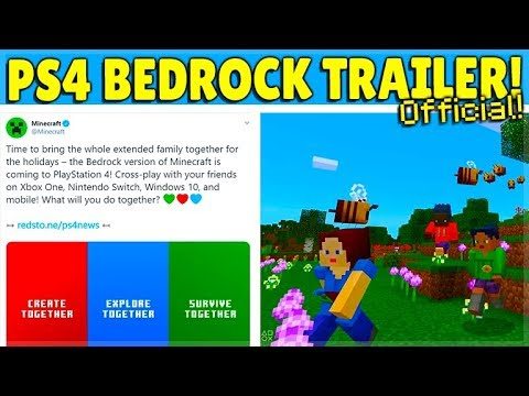 Minecraft Ps4 Bedrock Edition Official Trailer Free Update Release Youtube