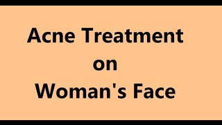 Acne Treatment on Woman