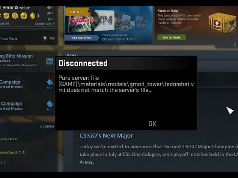 Cs Go Pure Server Pak Error