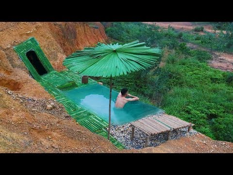 Build The Most Infinity Swimming Pool And Undergroud House On The Cliff