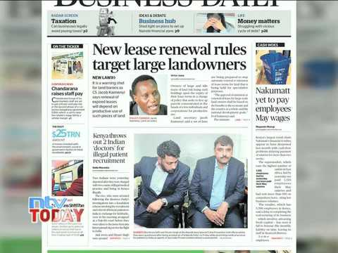 ON THE BUSINESS DAILY TODAY 20.06.17