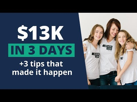 $13k + 3 days + 3 Tips that I use to make it happen!  Alison Prince   0-$100k