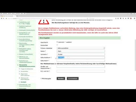 Www Bzst De كيف يمكنني الحصول على رقم التعريف الضريبي عن طريق الانترنت Youtube