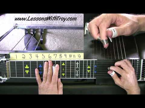 E9 Pedal Steel Basics - #9 - Applying C6 Sounds to E9 - Thunderstorms and Neon Signs