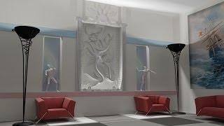 Видеоурок - сборка сцены, выставление света, рендер большого изображения в 3D Studio Max 2011 RUS