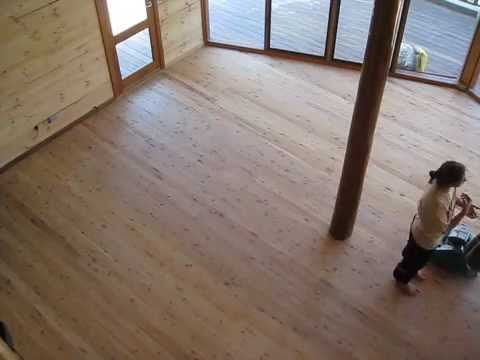 The Haven Day 192 Sanding Cypress Pine Flooring Youtube