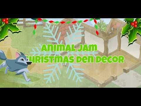Animal jam Den decor : nm christmas den: