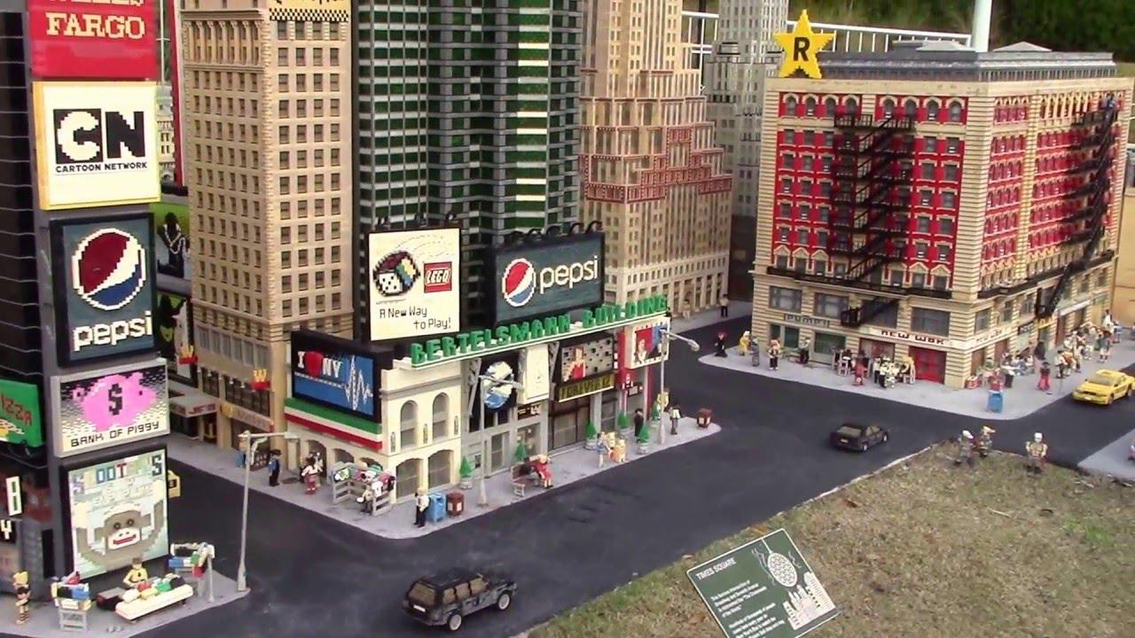 LEGO New York City Times Square  Miniland USA  Legoland