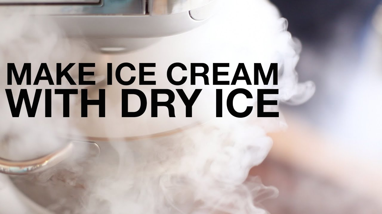 Make ice cream using dry ice and a stand mixer chefsteps for How to make delicious ice cream at home