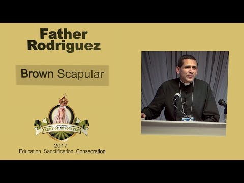 Father Rodriguez - Brown Scapular Speech & Enrolment