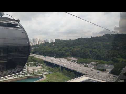 Singapore Cable Car Ride: Habourfront to Mount Faber April 2017