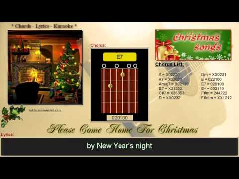 Chords And Lyrics Please Come Home For Christmas Cover Karaoke No