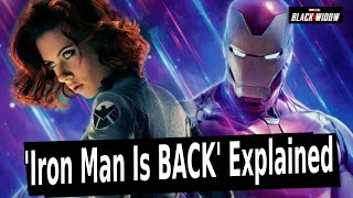 IRON MAN IN BLACK WIDOW?? The Real Story Explained