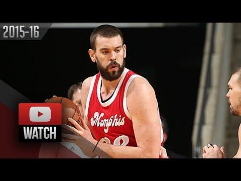 Mark Gasol Full Highlights vs Knicks (2016.01.16) - 37 Pts, 8 Reb