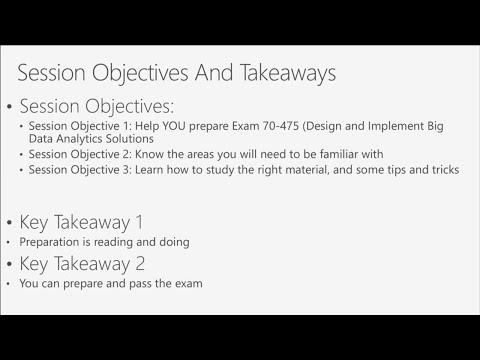 Exam 70-475: Designing and Implementing Big Data Analytics