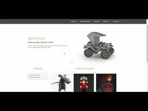 Démo Site web e-commerce 3D - GL S5 2016/2017