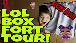 Huge LOL Surprise Box Fort with Secret Hidden Room!