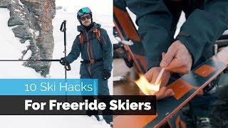 10 SKI HACKS FOR FREERIDE SKIERS