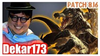 Dekar173 | RENEKTON vs GNAR | Dekar RENEKTON Top | Challenger Gameplay | Patch 8.16