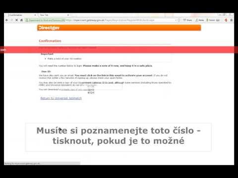 Universal Jobmatch Registration (CZECH)