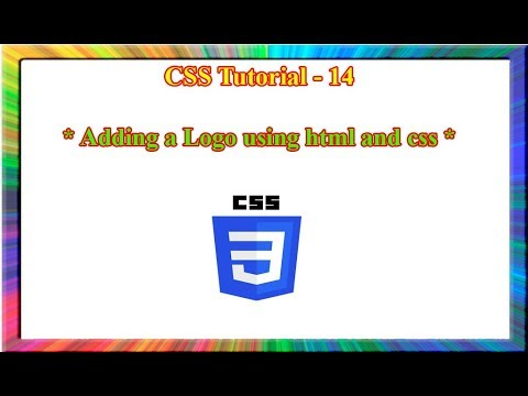 how to put logo in html header