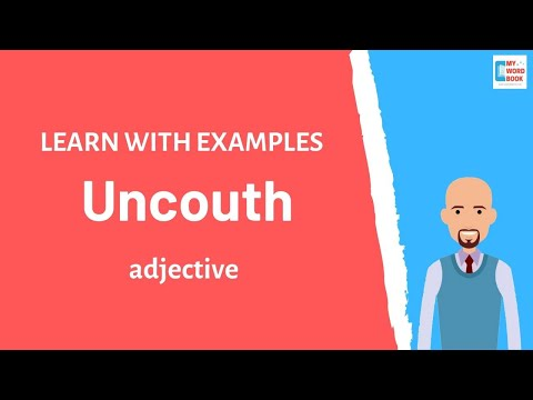 Uncouth | Meaning with examples | Learn English | My Word Book