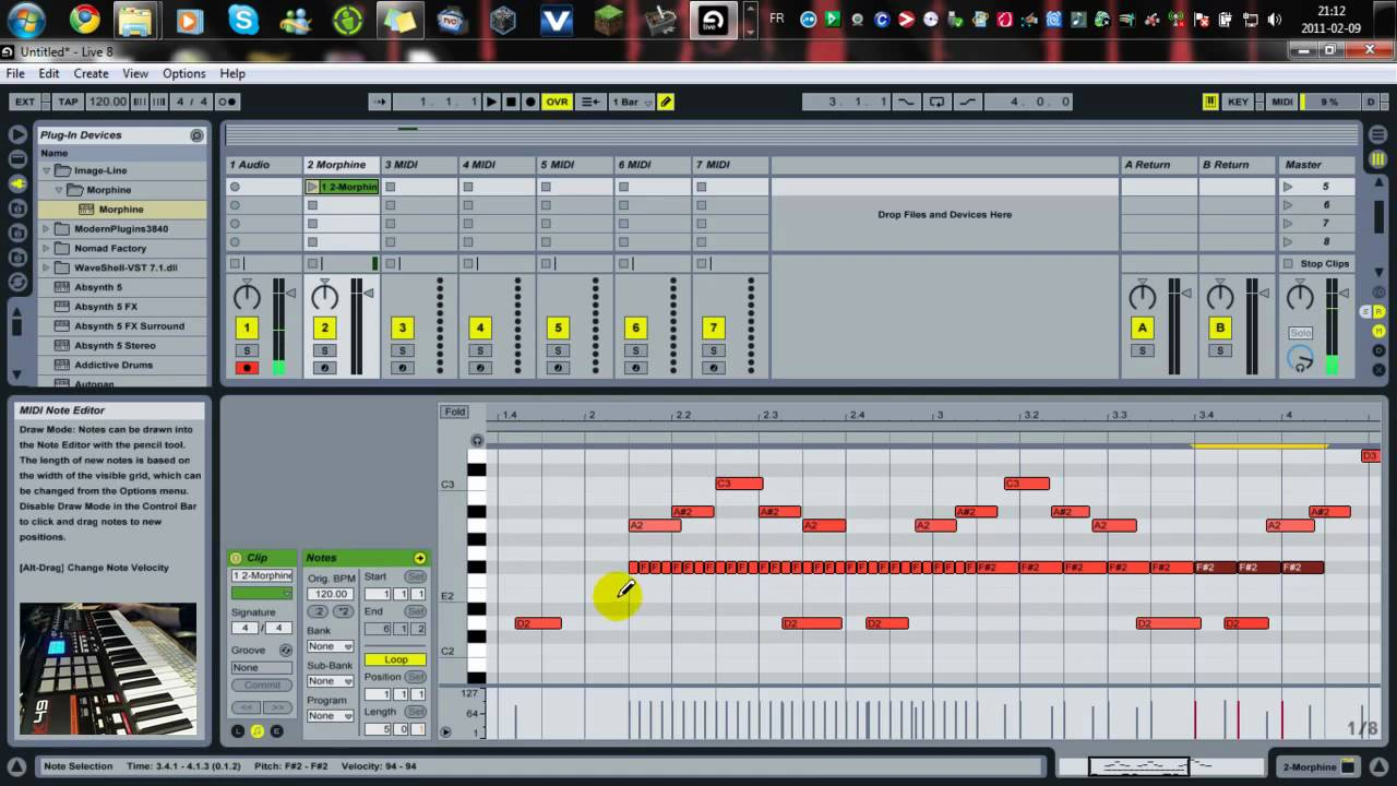 introduction ableton live 8 tutoriel fran ais youtube. Black Bedroom Furniture Sets. Home Design Ideas