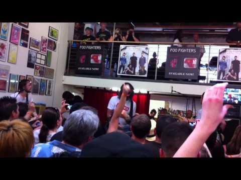 "Foo Fighters ""Walk"" Live at Fingerprintz Record Store, Long Beach California 4-16-11"