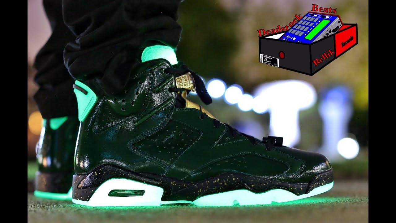 "Air Jordan 6 ""Champagne"" On Feet Glow"