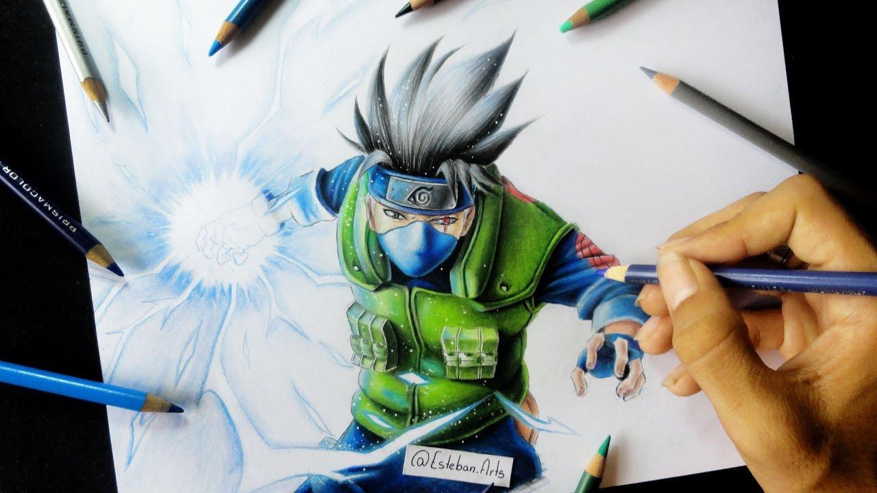 Como Dibujar A Kakashi Hatake How To Draw Kakashi Hatake Naruto Shippuden Esteban Arts 2017