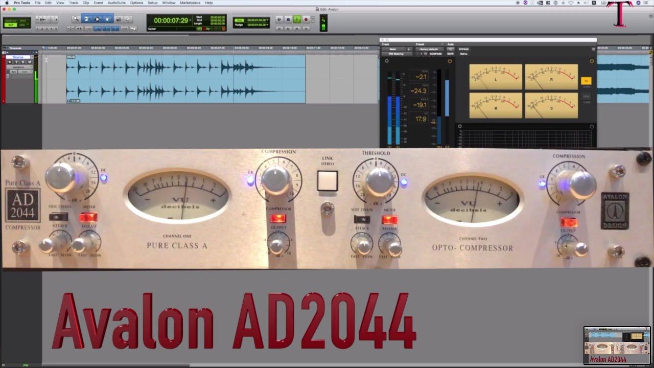 Avalon Ad2044 Compressor Vs Plugin