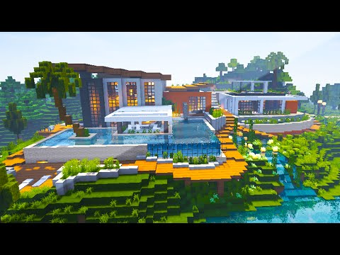 Minecraft Maps - RIVERSIDE MODERN HOUSE