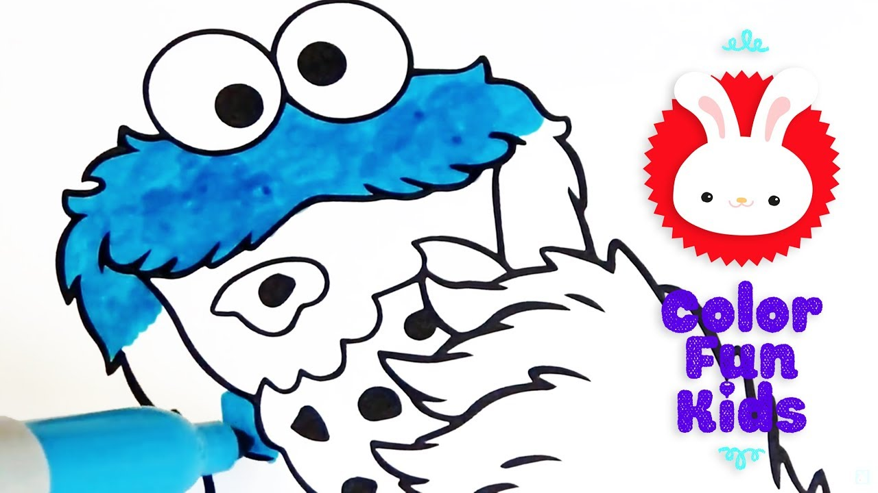- COLOR FUN KIDS! Cookie Monster & Oscar Coloring Book Pages Video