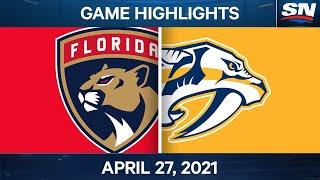 NHL Game Highlights   Panthers vs. Predators - Apr. 27, 2021