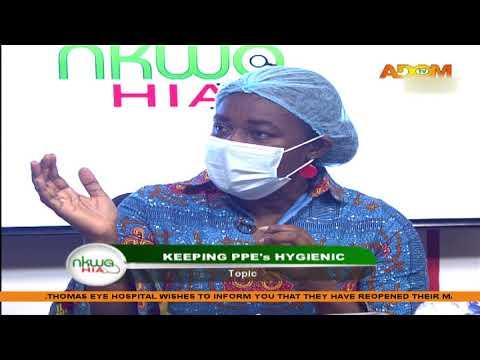 Keeping PPEs Hygienic - Nkwa Hia on Adom TV (18-4-20)