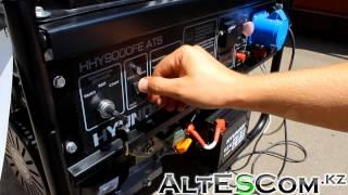 Запуск Бензинового генератора HYUNDAI HHY 9000FE ATS 5,9кВт смотреть