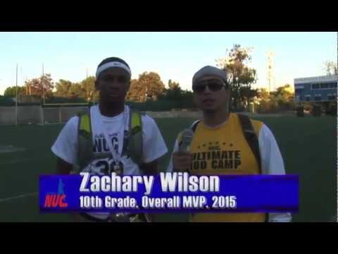 Zachary Wilson Interview, 10th Grade Class of 2015 Overall MVP Award, Los Angeles, CA