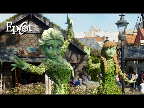 Epcot Update: Flower & Garden Preview with Topiaries, Gardens, Food Booths, and End of Arts Fest