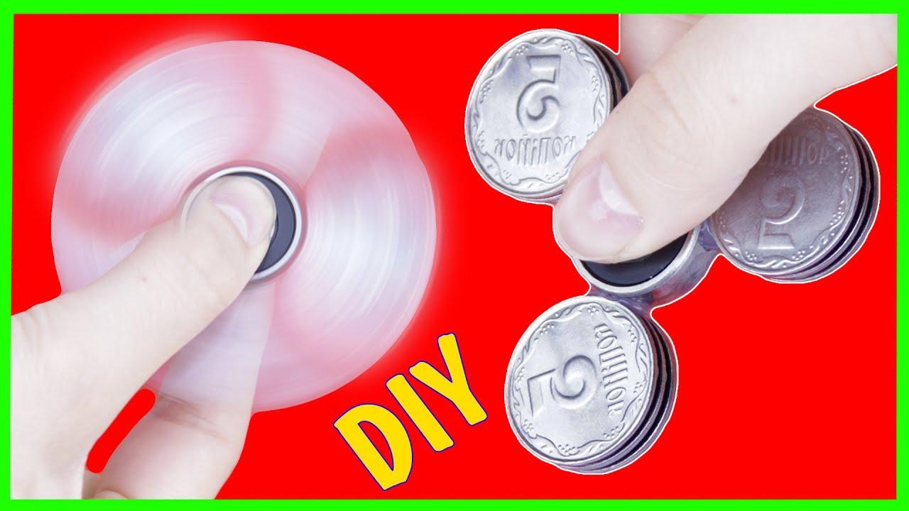 Как сделать спиннер без подшипника из монет
