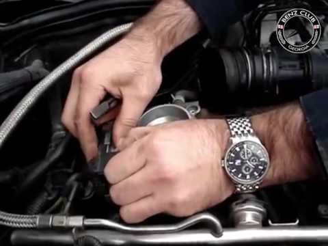 How to remove throttle body Mercedes M111 engine